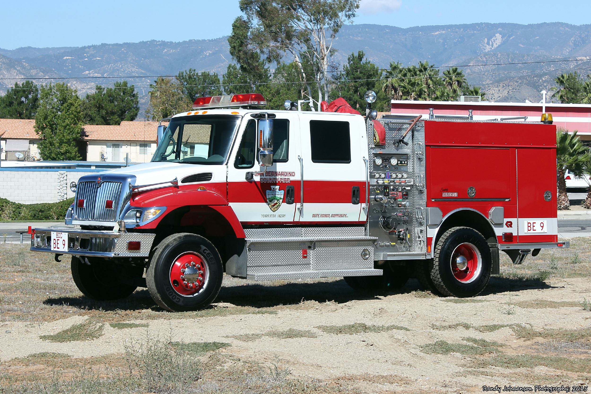 CA, San Bernardino County Fire Department Brush Engine