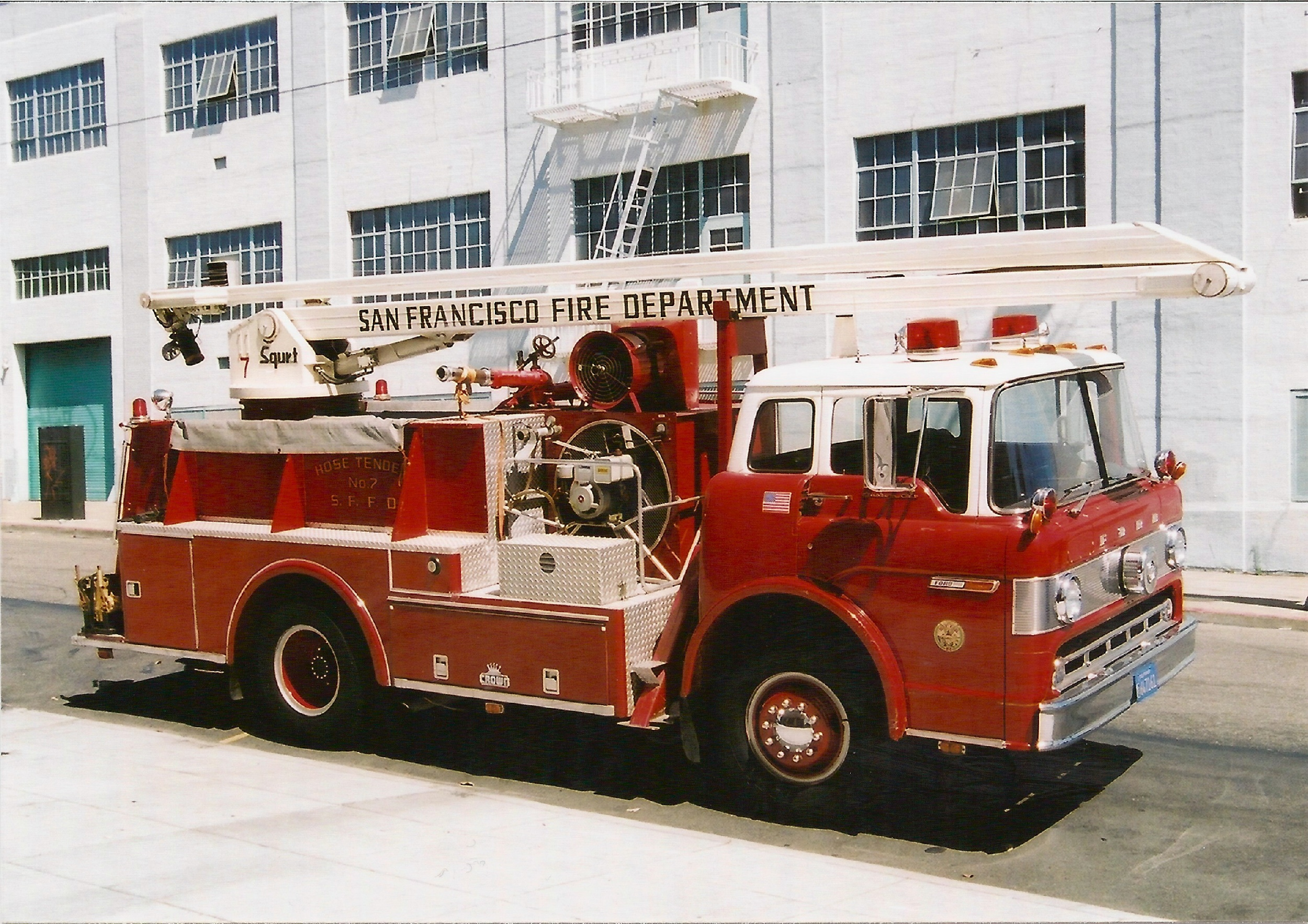 Ca San Francisco Fire Department Engine Special