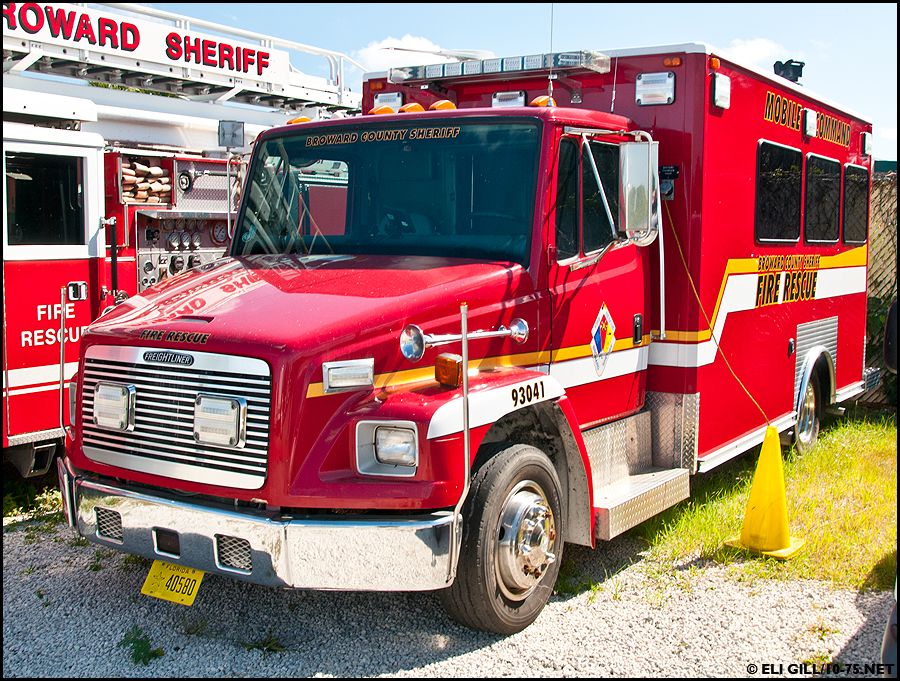 Fl Broward County Sheriff Fire Command Car
