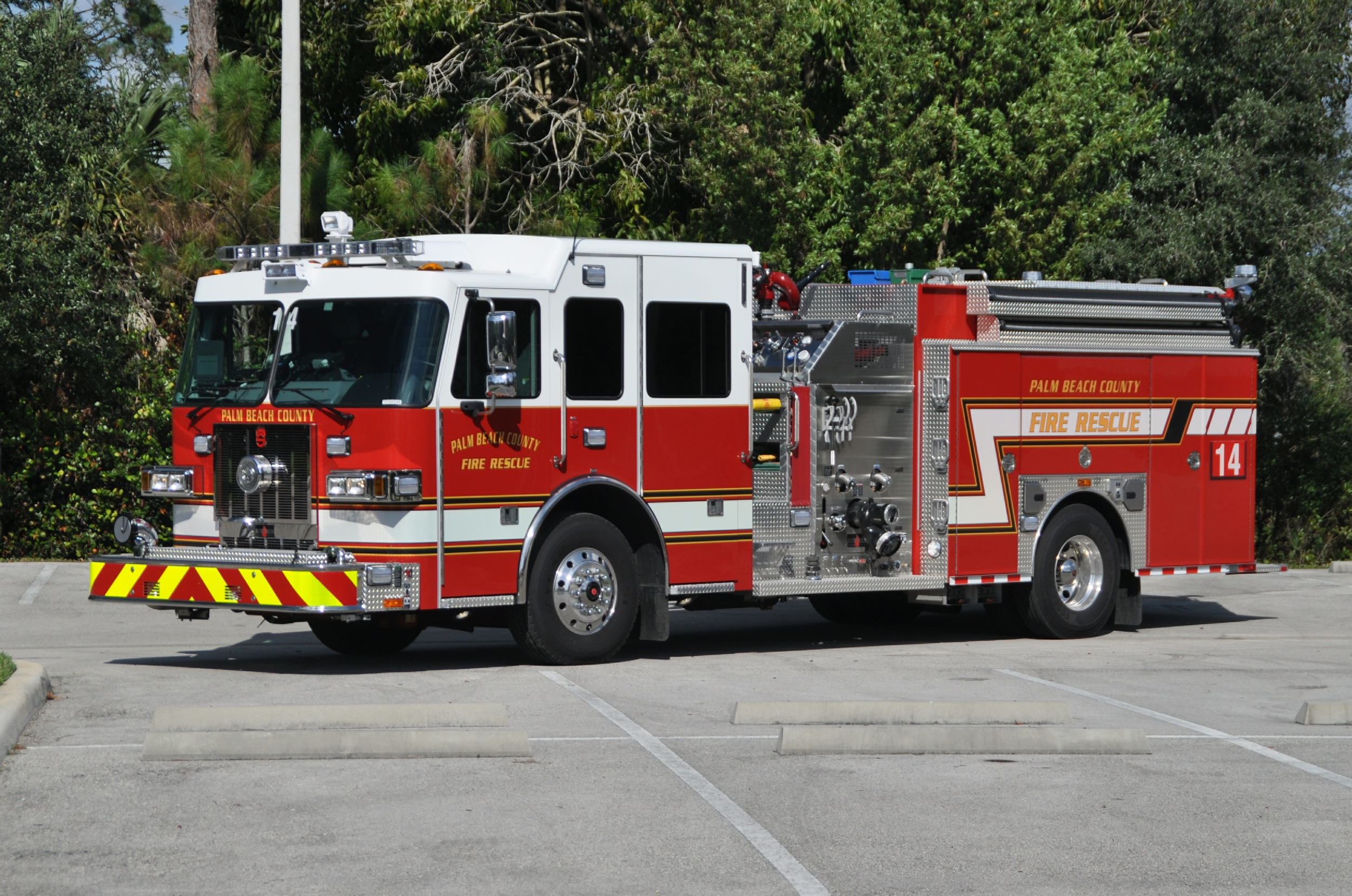 Fl Palm Beach County Fire Department Engine Company