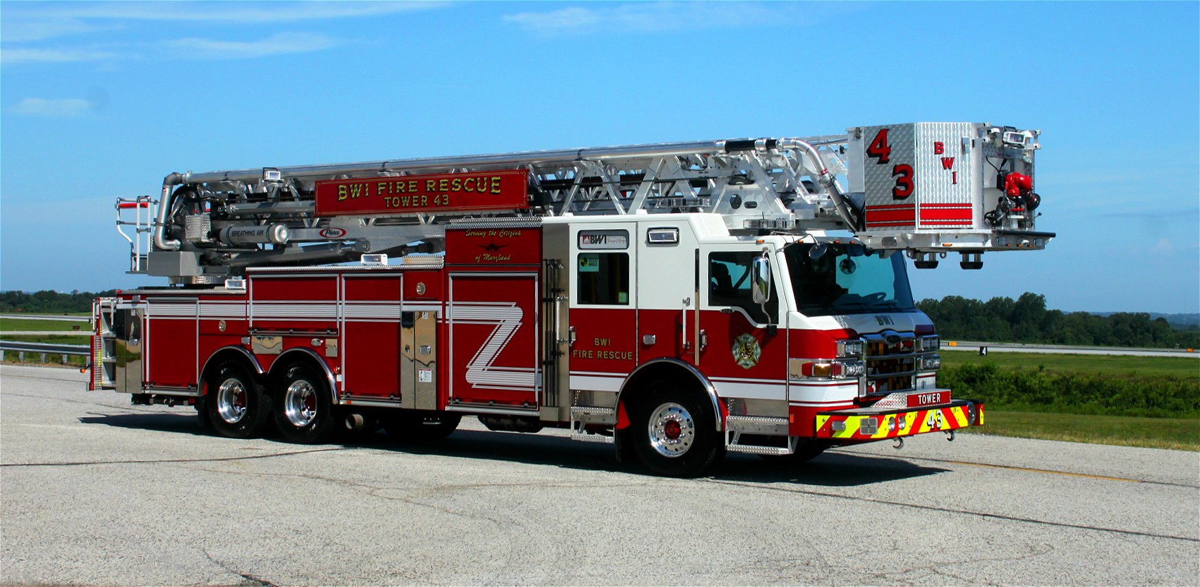 Md Bwi Fire Rescue Engine Ladder