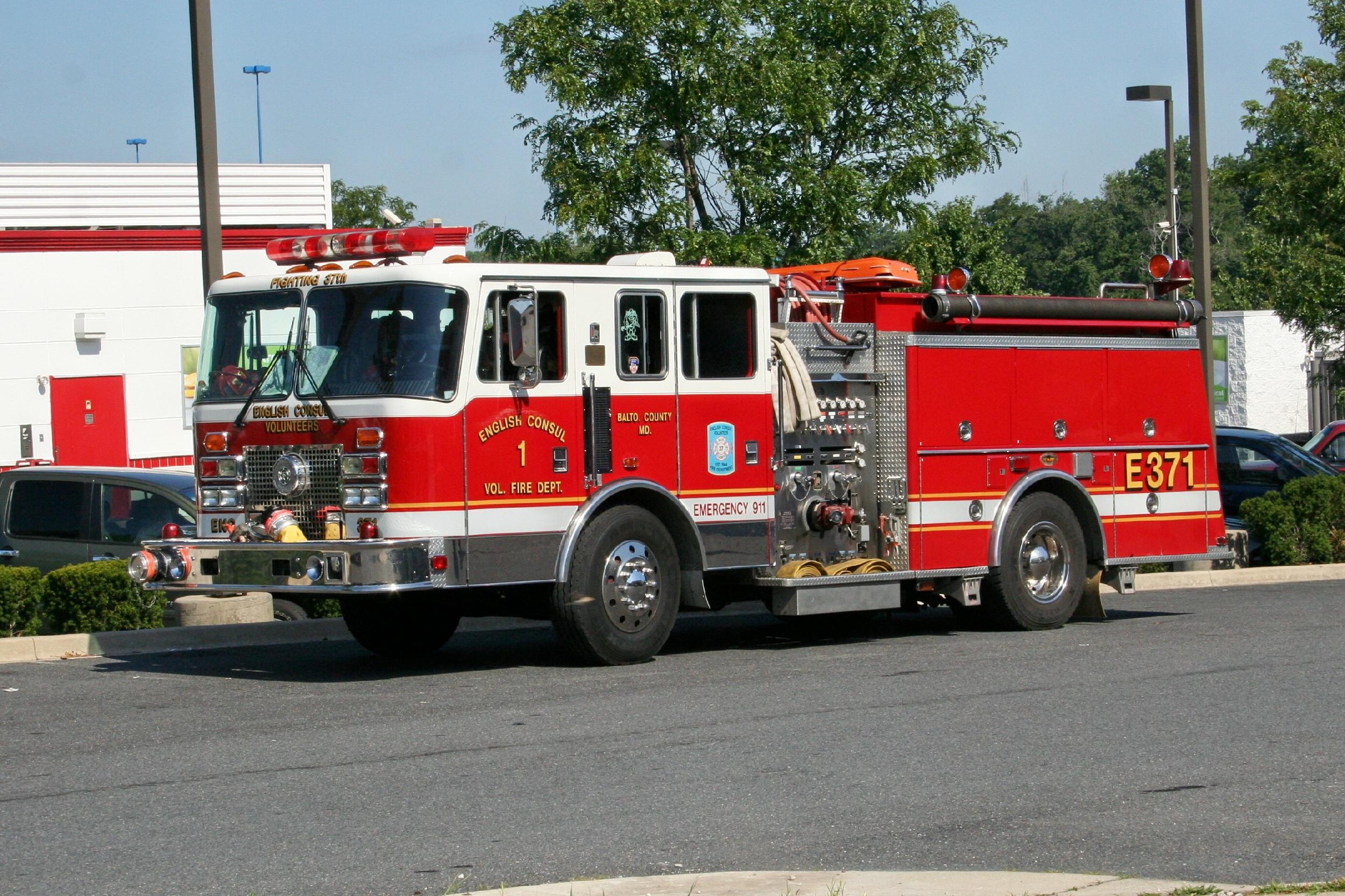 MD English Consul Volunteer Fire Department 37