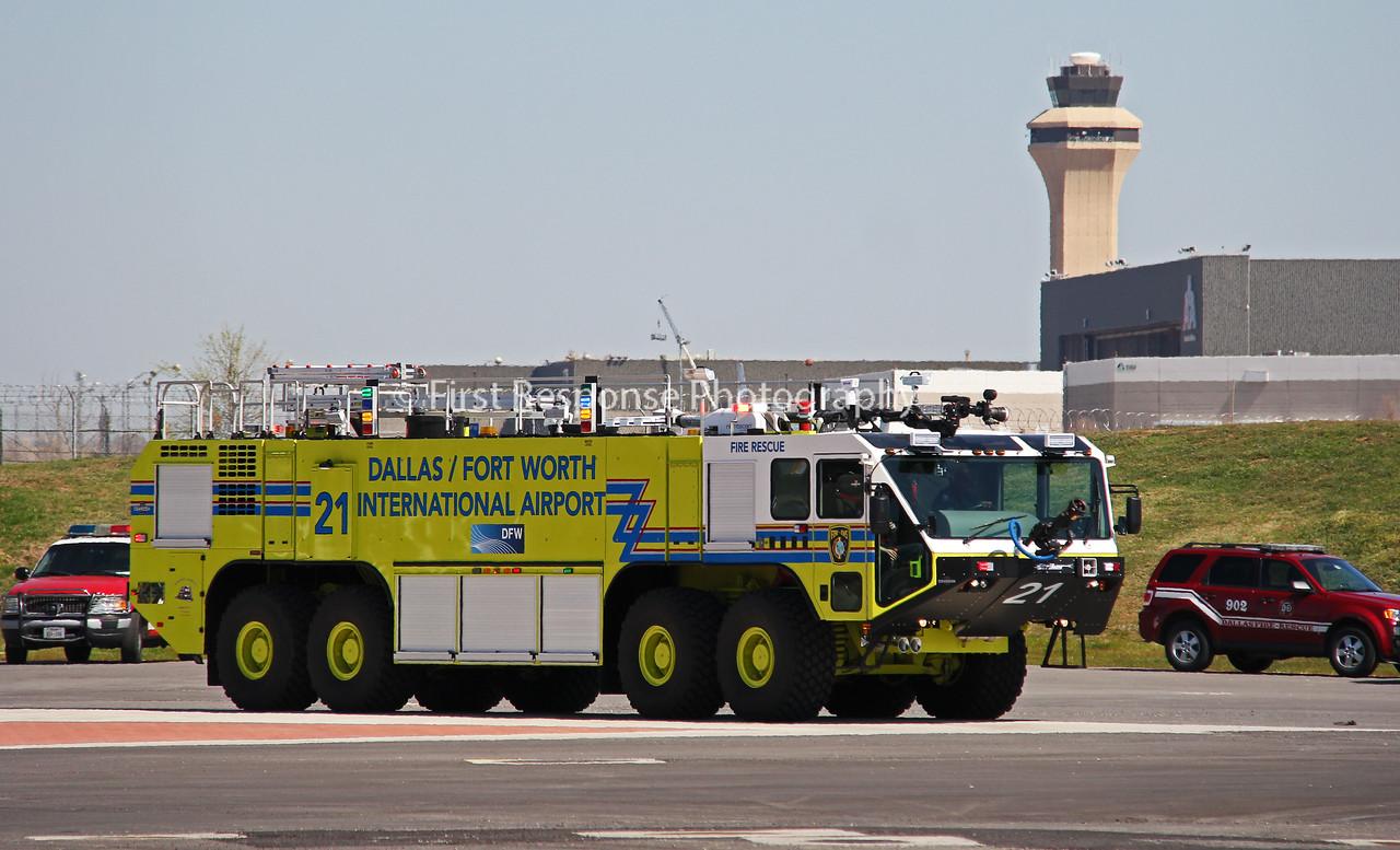 TX, DFW Airport Fire Services ARFF