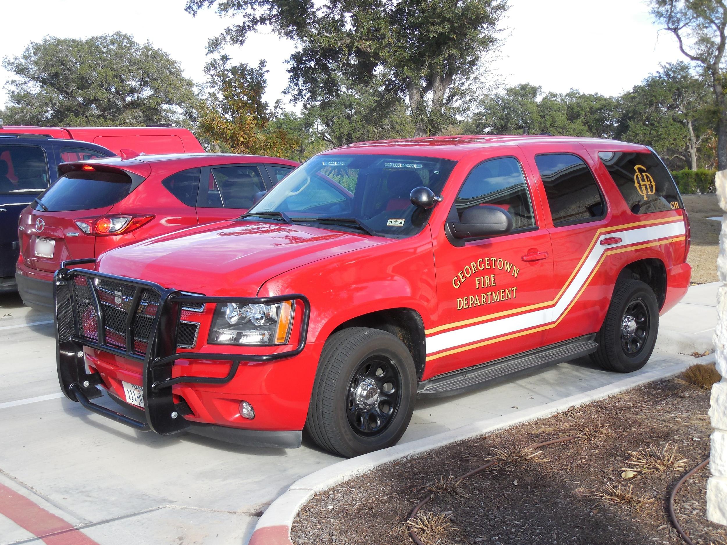 Tx Georgetown Fire Department Command Car