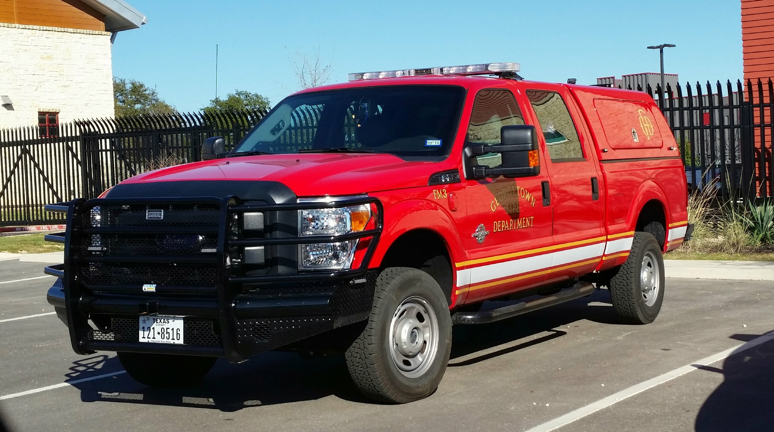 Tx Georgetown Fire Department Command Car